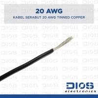 Kabel 20 AWG Serabut Tembaga Putih / Tinned Copper HITAM (per meter)