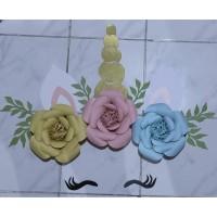Paper Flower Unicorn Backdrop / Bunga Kertas Dekorasi
