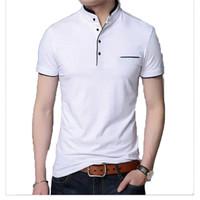 Baju Kaos Polo Berkerah Casual Sanghai Premium Pria Dewasa Bisa Bayar - Putih, XXL