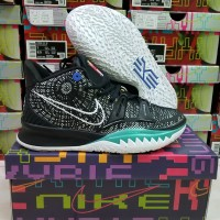 Sepatu Basket Nike Kyrie7 High Black White
