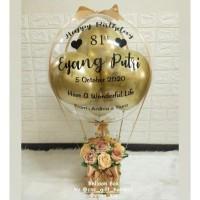 balon bouquet / buket balon / balon box / bunga box silver / gold