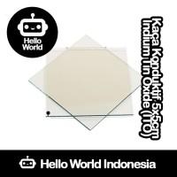 Kaca Konduktif Indium Tin Oxide (ITO) 5x5cm