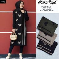 baju atasan wanita tunik muslim rajut real pict terbaru-micka