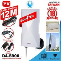 PX DA-5900 5900B Antena TV Digital Indoor Outdoor - GARANSI 18 BULAN - Putih