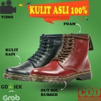 SEPATU BOOT BOOTS WANITA KULIT ASLI DOCMART HIKING CASUAL SAFETY VB67