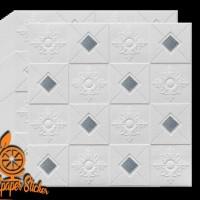 wallpaper foam peredam panas pada plafon - batik silver tipe A