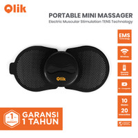 Qlik Portable Mini Massager / Alat Pijat Elektrik Remote / Alat Terapi - 1 pcs
