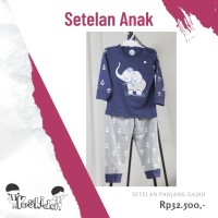 Baju Anak Gajah Setelan Panjang Yoshida (1 - 5 Tahun) (STPJ-GAJAH)