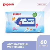 PIGEON Anti Bacterial Wet Tissue - 60 Sheets | Tisu Basah Bayi