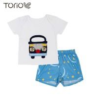 Torio Blue Bus Starry Sky Casual Set - Baju Setelan Anak Laki-Laki - 3-6 bulan