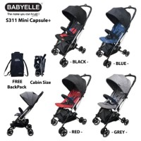 Stroller BabyElle Mini Capsule Plus S311 Free Backpack Kereta Bayi