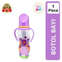 Baby safe botol susu js005 ungu with handle 250ml #03