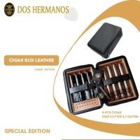 Cigar case premium Leather case Dos Hermanos cigar / 8 Plus cigar