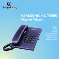 Panasonic KX-TS505 Pesawat Telepon Kabel Rumah Kantor Indihome - Biru