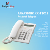 Panasonic KX-TSC11 Pesawat Telepon Kabel Rumah Kantor Indihome - Putih