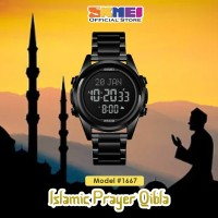 Jam Tangan Pria SKMEI 1667 Qibla Watch BLACK BLACK WaterResist 30m