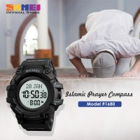 Jam Tangan Pria Digital SKMEI 1680 BLACK WHITE WaterResistant 50m
