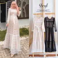 sheryl dress baju gamis modern broklat wanita muslim gaul