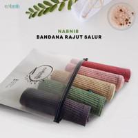 Nabnib Ciput Bandana rajut premium / inner hijab / Motif salur / Ciput