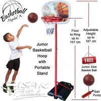 Junior Portable Basketball Hoop A - Rim Bola Basket Ring Mainan Anak