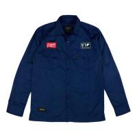 WORKER BLUE LS-Kemeja Panjang, Casual / Baju Kerja Lapangan - size M