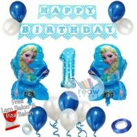Paket Dekorasi Hiasan Balon Ulang Tahun / Happy Birthday Frozen 01