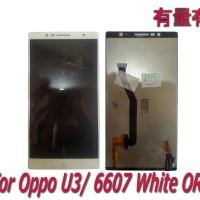 LCD TOUCHSCREEN OPPO U3 - 6607 - LCD TS OPP WHITE ORG