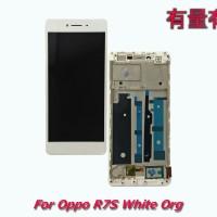 LCD TOUCHSCREEN FULL OPPO R7S - WHITE ORG - LCD TS OPP