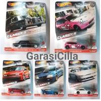 Hotwheels Retro Ban Karet Set Seri Modern Classics Car Culture Premium
