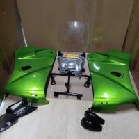 fairing fering set sayap ninja ssr hijau metalic metalik