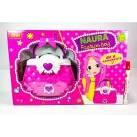 Mainan anak fashion bag naura tas bando pink dan anting