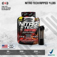 Muscletech Nitrotech Ripped 4 Lbs Nitro Tech Ripped Whey+Fat loss - Coklat