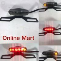 variasi motor lampu belakang stop JB led sein motorcyle