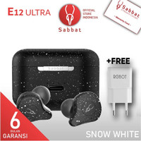 Sabbat E12 ULTRA Snow White Qualcomm APTX TWS Bluetooth Headset 5.0