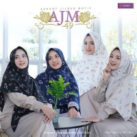 Jilbab Segi Empat Motif Aurany AJM 49
