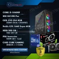 Pc rakitan gaming editing rendering i5 10400F ft GTX 1660 Super Resmi