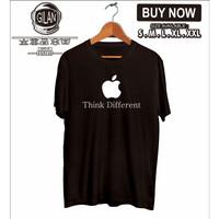 Kaos Baju Distro Apple Think Different Iphone Ipad Gadget Logo - Hitam, S