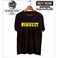 Kaos Baju Pirelli Logo Ban Balap Rally Mobil Motor Kaos Otomotif - Hitam, S