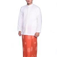 Sarung ATLAS Idaman Kembang Jasmin Oranye