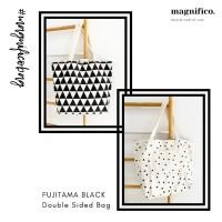 Tas Kanvas 2 Sisi / Canvas Bag Double Sided - Fujitama Black