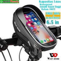 Tas holder hp stang sepeda Lipat Mtb Road Waterproof Sensitive & Luas