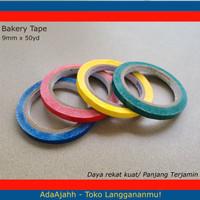 Bakery tape / lakban buah / Bag Sealer Tape Warna Warni 9mm x 50yd