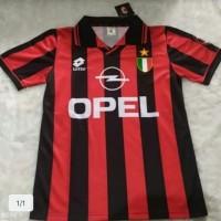 Jersey Kaos Baju Bola Milan Home Retro Classic Klasik Jadul 1996 1997