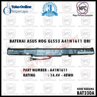 BATERAI ASUS ROG GL553 GL553VD A41N1611 ORIGINAL