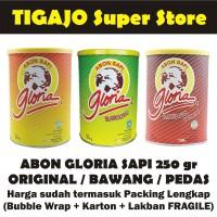 GLORIA Abon Sapi 250 gr Original / Bawang / Pedas