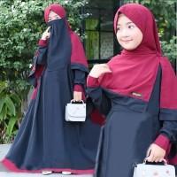 Baju Gamis Anak SHALIHA SYARI KIDS +KHIMAR+CADAR USIA 9-12 TAHUN⠀