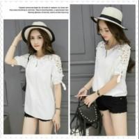 Lavie Whait Fashion Busana Baju Atasan Wanita Blouse Twiscone Korea