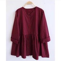 Blouse Wanita Jumbo LD 120 Fit 3XL Baju wanita big size atasan Milea