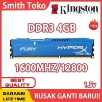 RAM KINGSTON HYPER X FURY GAMING DDR3 4GB PC 12800 1600Mhz LONGDIMM