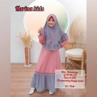 Karina Kids Gamis Anak Baju Muslim Anak Perempuan 8-10 Tahun - NAVY